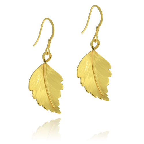 Clare Hawley Jewellery Gold-plated Birch Leaves Earrings