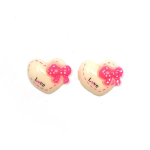 White Hearts with Pink Spotty Bows